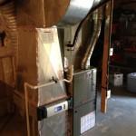 Trane 80 percent furnace installed